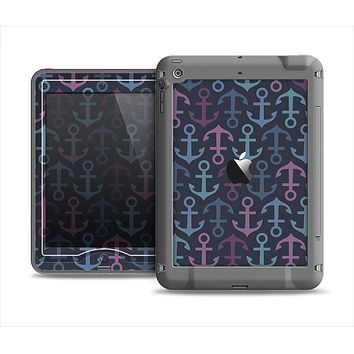 The Blue & Pink Vector Anchor Collage Apple iPad Mini LifeProof Nuud Case Skin Set