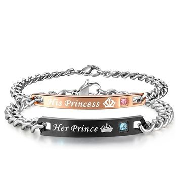 Her Prince & His princess Bracelet Set
