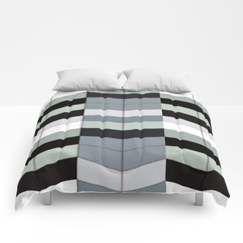 Geometric Stacks Comforters by lillianhibiscus