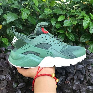 Best Online Sale Nike Air Huarache 4 Rainbow Ultra Breathe Men Women Hurache Green Run