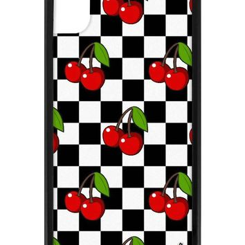 Cherry Checkers iPhone Xr Case