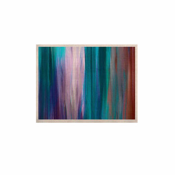 "Ebi Emporium ""Irradiated Multi 3"" Teal Lavender KESS Naturals Canvas (Frame not Included)"