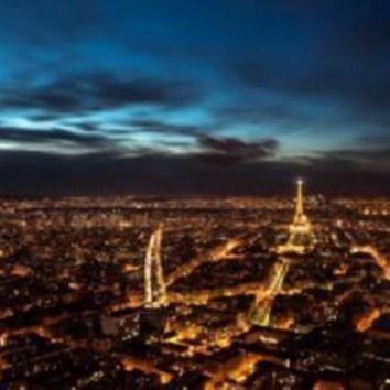 Paris At Night Skyline poster Eiffel Tower 11 inch x 17 inch poster