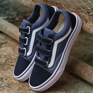 Vans men and women Casual shoes for Navy Blue
