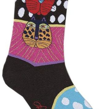 Laurel Burch Socks-Wild Cats - Multi