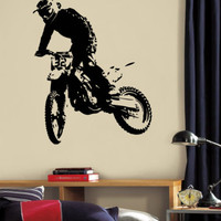 Wall Decal Vinyl Sticker Dirty Motocross Motorcycle  Moto Sport  Kid r1362