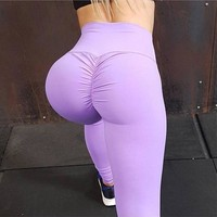 GXQIL High Waist Sport Legging Women Yoga Leggings Sexy Gym Sports Pants Solid Tights Female Fitness Running Workout Leggins XL