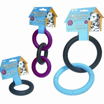 Invincible Chains Dog Toy in Large Triple Ring