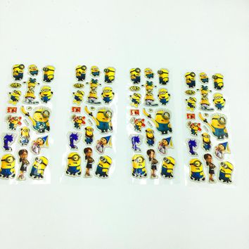5PCS/LOT MINIONS STICKERS KIDS PARTY FAVORS MINIONS 3D STICKERS HAPPY BIRTHDAY PARTY SUPPLIES MINIONS STICKERS