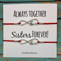 Infinity Love Bracelets | Matching Infinity Bracelets | Sisters Forever | Gift for Sister | Infinity Charm Bracelets