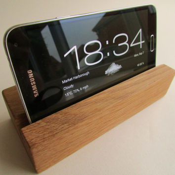 Solid hardwood i phone dock/nightstand with Tung oil finish