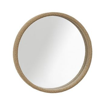 Brownstone Furniture Capri Rope-Wrapped Round Mirror