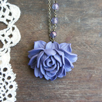 Eternal Rose Necklace - Purple