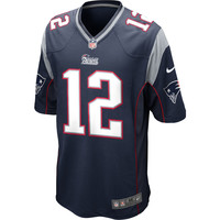 NIKE Men's New England Patriots Tom Brady Game Team Color Jersey