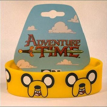 Adventure Time Finn Jake Cosplay Orange Rubber Bracelet Wristband Strap LICENSED