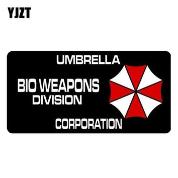 YJZT 17.6CM*8.5CM Funny Resident Evil BIO WEAPONS DIVISION UMBRELLA CORPORATION Reflective Car Sticker Motorcycle Parts C1-7541