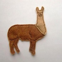 LLama iron on patch applique