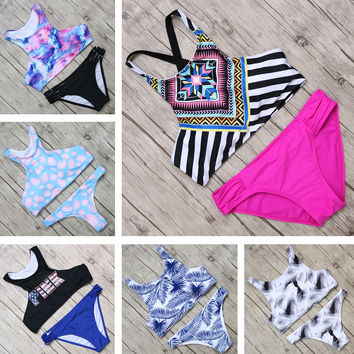 2017 Hot Swimwear Women Bikini Set Sexy High Neck Swimsuits Push Up Brazilian Beach Bathing Suits Maillot De Bain Femme Bikini