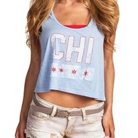 Chicago Flag Crop Top Tank | SportyThreads.com