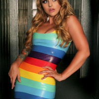 Stripe Rainbow Latex Dress by KimberliciousLatex on Etsy