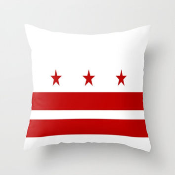 DC Flag Throw Pillow District of Columbia Pillow Flag Decorative Pillow Nation's Capital Pillow Nation's Capital Flag Pillow Decorative Home