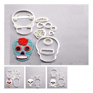 Sugar Skull Cookie Cutter Set Custom Made 3D Print Set Cake Decoration Tools