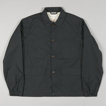 Universal Works Labour Jacket Navy Waxed
