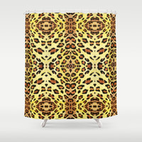 Leopard print Shower Curtain by savousepate