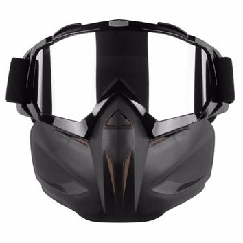 Motorcycle Goggles Helmet Mask Detachable Ski Bike Motocross Goggles Helmet Motorcycle Glasses Mask Outdoor Sports Glasses  NEW