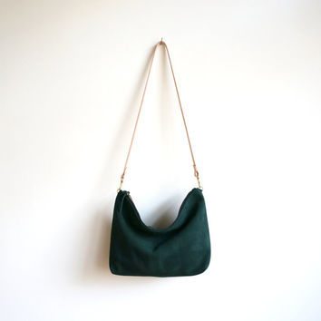 Green Suede Hobo