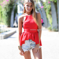 ENGLE TOP , DRESSES, TOPS, BOTTOMS, JACKETS & JUMPERS, ACCESSORIES, 50% OFF SALE, PRE ORDER, NEW ARRIVALS, PLAYSUIT, COLOUR, GIFT VOUCHER,,Red,SLEEVELESS,MINI Australia, Queensland, Brisbane