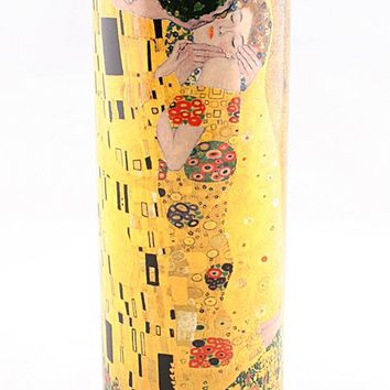 Klimt The Kiss Ceramic Small Flower Vase 7H
