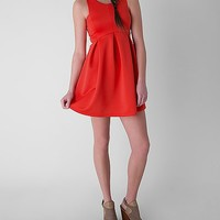 Women's Scoop Neck Dress in Red by Daytrip.
