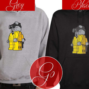 breaking bad lego Hoodie Sweatshirt Sweater Shirt black and white Unisex