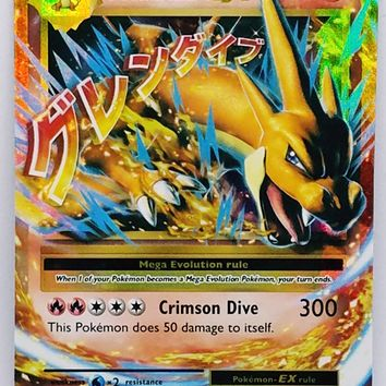 MEGA CHARIZARD EX 13/108 FULL ART ULTRA RARE HOLO XY Pokemon Evolutions TCG HOT
