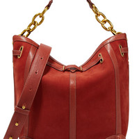 Jérôme Dreyfuss - Tanguy leather-trimmed nubuck shoulder bag