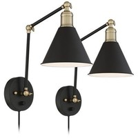 Set of 2 Plug-In Wall Lamps