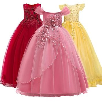 Gorgeous Fancy Dress Bridesmaid Flower Girl Pageant Gown