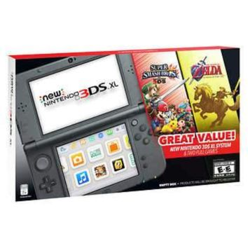 New Nintendo 3DS XL Bundle w/ Super Smash Bros. 3DS and The Legend of Zelda: Ocarina of Time 3D