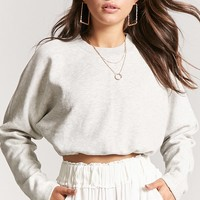Heathered Drawstring Pullover