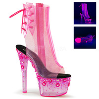 Blacklight Reactive Stripper Ankle Boots