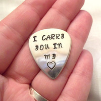 Customized Sterling Silver Guitar Pick -- Personalized, Sterling Silver, Father's Day Gift, Christmas, Dad, Music -- MADE TO ORDER