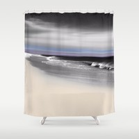 Lovely Twilight Seascape 2 Shower Curtain by Jen Warmuth Art And Design