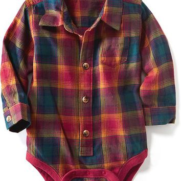 Old Navy Plaid Bodysuit For Baby