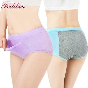 Sexy Women Physiological Briefs Leakproof Menstrual Period Broadened High Waist Underwear Health Cotton Seamless Women Panties