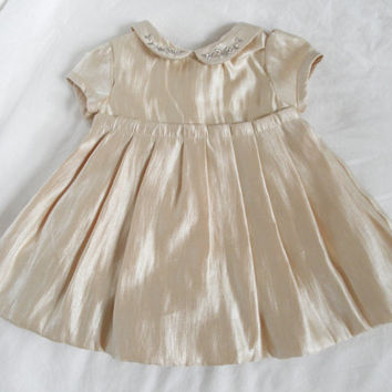 Baby Dress Size 3 Month Vintage Baby Clothing Girls Weddings Baby Doll Style Dress Photo Props Holiday Sale