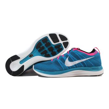 Nike Flyknit One+ Neon Turquoise/White-Squadron Blue-Pink Flash 554887-414