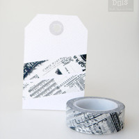 WASHI TAPE, black and white collage pattern