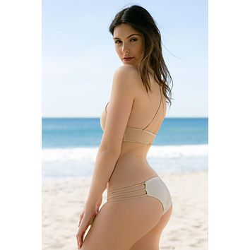 Mary Grace Swim - Bowie Reversible Bottom | Bone