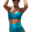 Kingston Push-Up Underwire Bandeau - Teal Wave